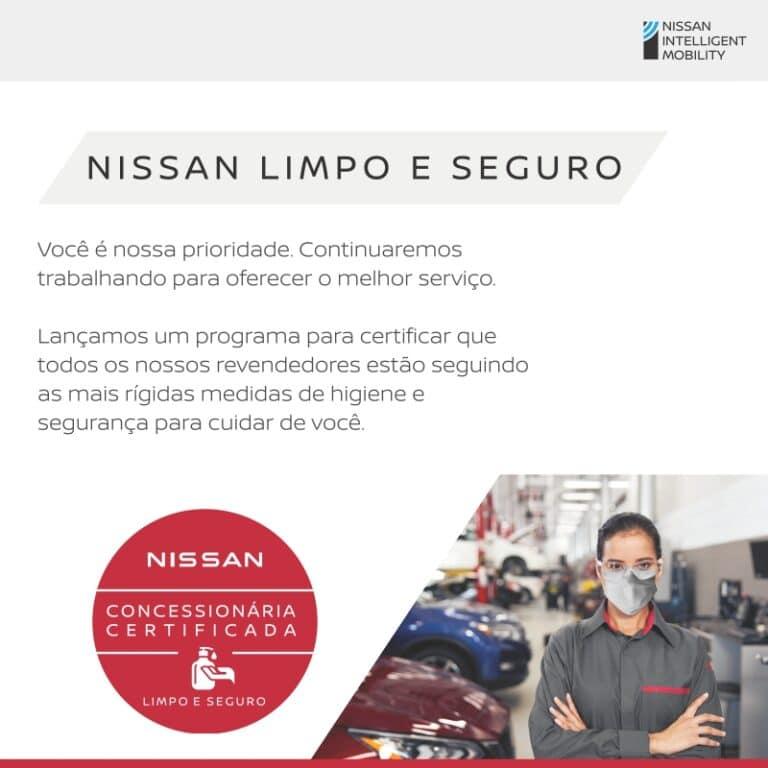banner Nissan Limpo e Seguro